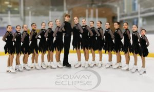 Solways Eclipse Skating Team dressed for competition.